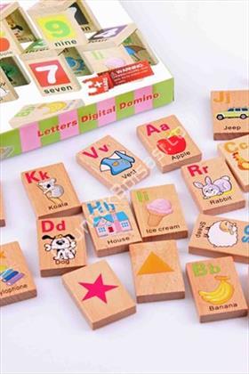 toptan ahşap oyuncak resimli domino ,Toptan Satış