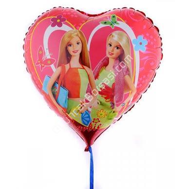 Toptan Folyo balon satışı büyük boy barbie kalp ,Toptan Satış