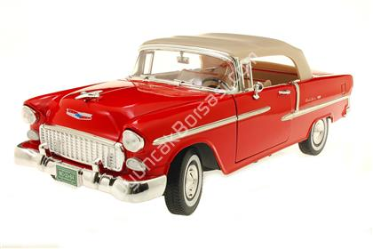 1955 CHEVY BEL AİR 1-18 kırmızı ,Toptan Satış