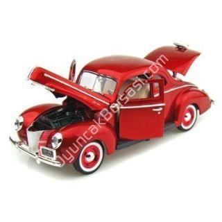 Toptan model araba 1940 FORD DELUXE KIRMIZI ,Toptan Satış