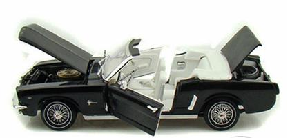 1964 FORD MUSTANG 1 18 model araba SİYAH ,Toptan Satış