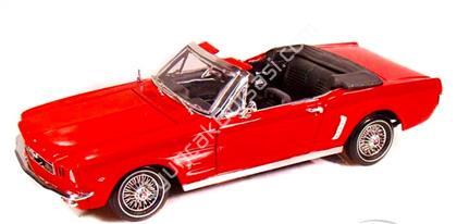 1964 FORD MUSTANG 1 18 model araba kırmızı ,Toptan Satış