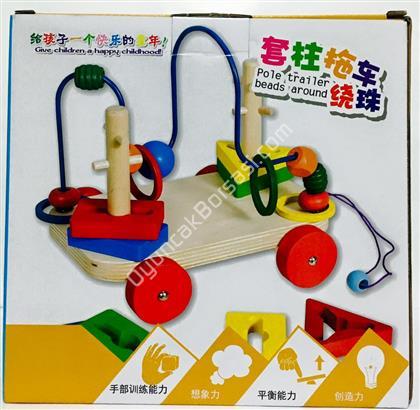 çocuk zeka oyuncağı tekerlekli tel kordinasyon ,Toptan Satış