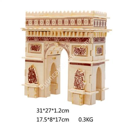 TOPTAN 3D AHŞAP MAKETİ TRİUMPHAL ARCH MODEL G-P122 ,Toptan Satış