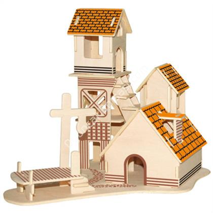 TOPTAN AHŞAP 3D MAKET VİLLA G-P266 ,Toptan Satış