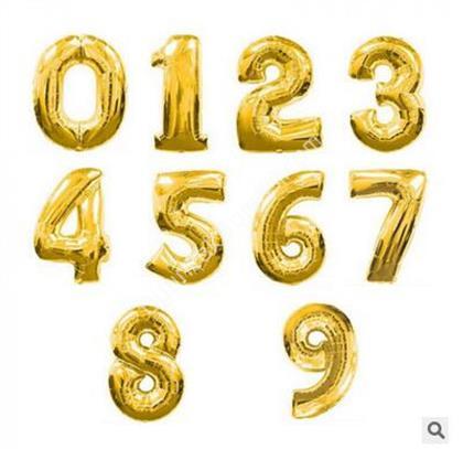 toptan rakam folyo balon altın renk 70 cm ,Toptan Satış