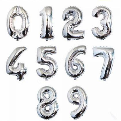 toptan rakam folyo balon gümüş renk 70 cm ,Toptan Satış