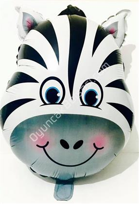 Safari Model Zebra Folyo Balon ,Toptan Satış