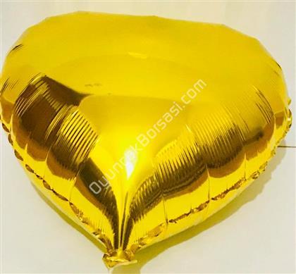 Altın Rengi Kalp Folyo Balon ,Toptan Satış