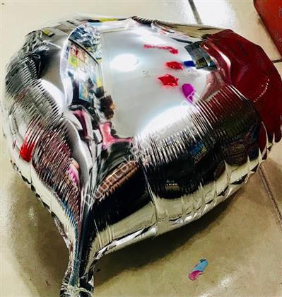 Gümüş Kalpli Folyo Balon 18 inç ,Toptan Satış