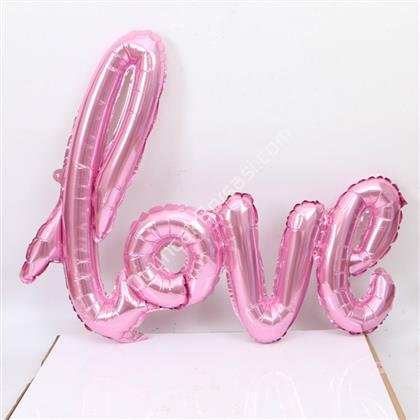 Toptan folyo balon Love Yazısı Pembe ,Toptan Satış