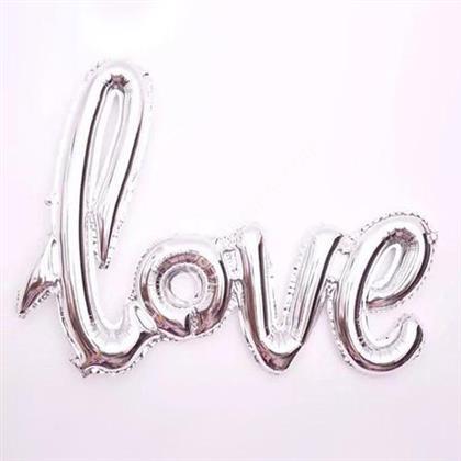 Toptan folyo balon Love Yazısı Gümüş ,Toptan Satış