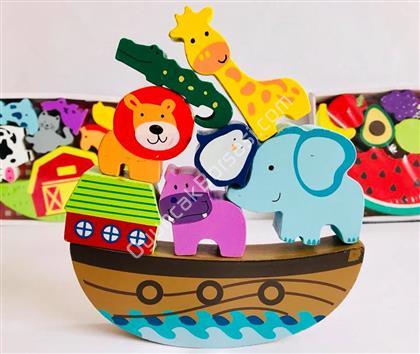 Toptan Ahşap Oyuncak Nuh un Gemisi Denge Oyunu ,Toptan Satış
