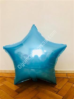 Mavi Renk Yıldız Büyük Boy Toptan Folyo Balon ,Toptan Satış