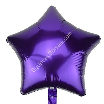 Mor Renk Yıldız Büyük Boy Toptan Folyo Balon ,Toptan Satış