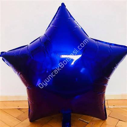 Lacivert Renk Yıldız Büyük Boy Folyo Balon ,Toptan Satış