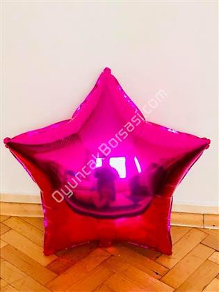 Fuşya Renk Yıldız Büyük Boy Folyo Balon ,Toptan Satış