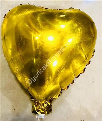 Kalp Folyo Balon Mini Altın ,Toptan Satış