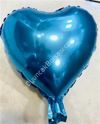 Kalp Folyo Balon Mini Mavi ,Toptan Satış