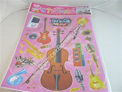Toptan Sticker Müzik Aletleri Modeli jda-048 ,Toptan Satış
