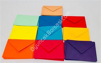 Renkli Mini Zarf 100 lü ,Toptan Satış