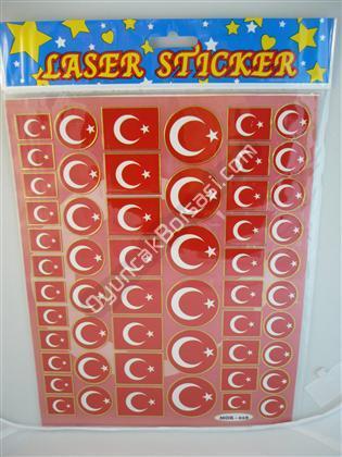 Toptan Sticker Ay Yıldız Modeli mor-018 ,Toptan Satış