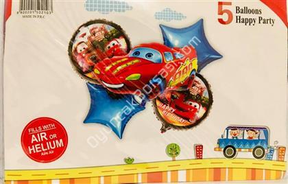 Arabalar Model 5 li Folyo Balon Seti ,Toptan Satış