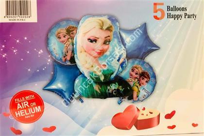 Frozen Model 5 li Folyo Balon Seti ,Toptan Satış