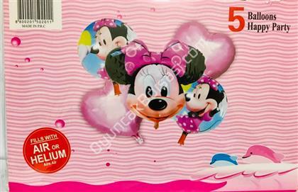 Mikii Model 5 li Folyo Balon Seti ,Toptan Satış