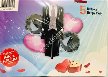 Damat Model 5 li Folyo Balon Seti ,Toptan Satış