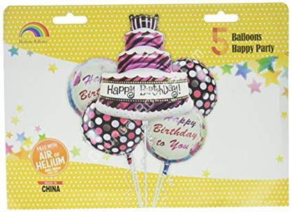 Pasta Model 5 li Folyo Balon Seti ,Toptan Satış