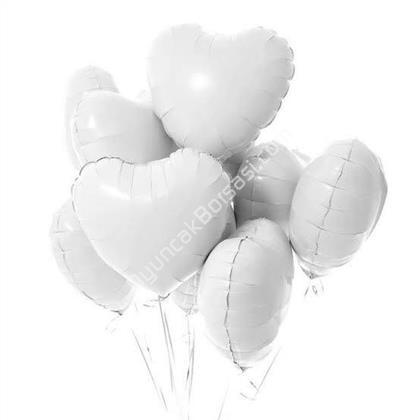 Beyaz Renk Kalp Balon 18 inç ,Toptan Satış