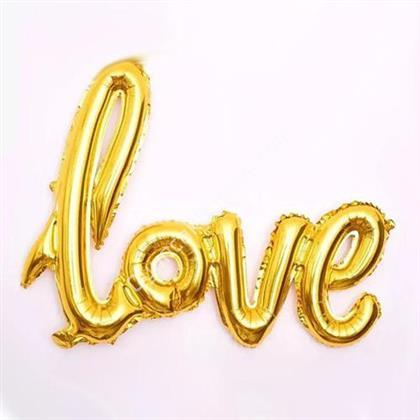 Toptan folyo balon Love Yazısı ALTIN ,Toptan Satış