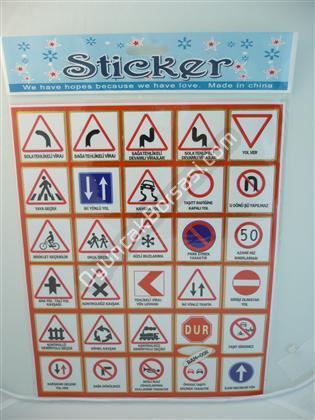 Toptan Sticker Trafik işaretleri Modeli bam 008 ,Toptan Satış