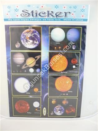Toptan Sticker Gezegen Sistemi Modeli bam 006 ,Toptan Satış