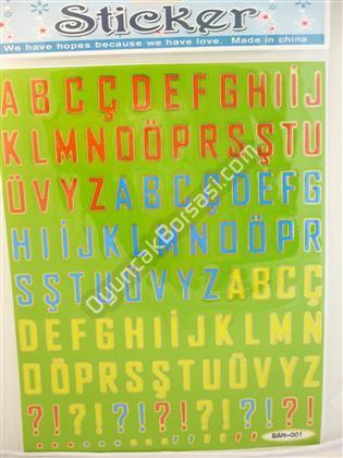 Toptan Sticker Büyük Harf Modeli bam 001 ,Toptan Satış