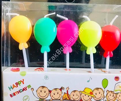 Balon Şeklinde Parti Mumu ,Toptan Satış