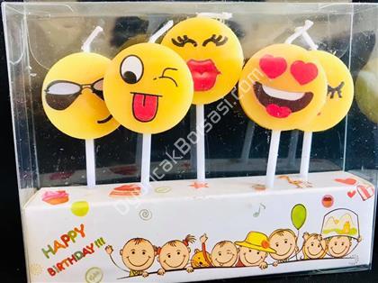 Emoji Şeklinde Parti Mumu ,Toptan Satış