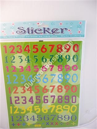 Toptan Sticker Büyük Rakam Modeli bam bl 663a ,Toptan Satış