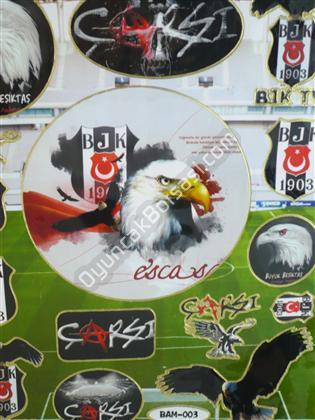 Toptan Sticker BJK Taraftar Modeli bam-003 ,Toptan Satış