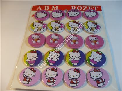 Toptan Rozet Hello Kitty ,Toptan Satış