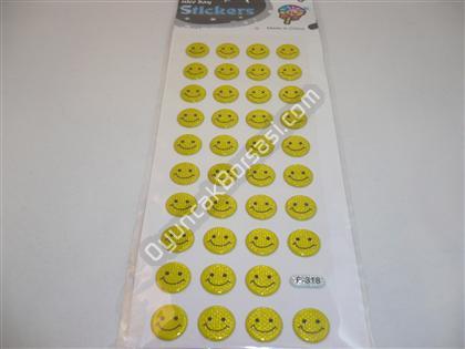 Damla sticker nice days sarı renk gülenyüz modeli ,Toptan Satış