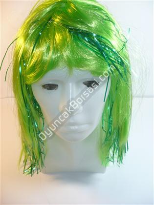 Peruk Simli Yeşil Renk ,Toptan Satış