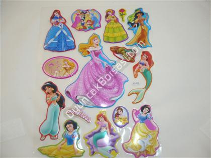 Kabartma Sticker A4 boyut Pamuk Prenses Model ,Toptan Sat��