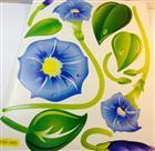 sticker toptan duvar mavi çiçek cxc002, Toptan Satış