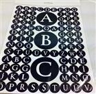 Siyah beyaz renkli harf sticker, Toptan Satış