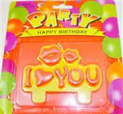 Parti mumları öpücüklü ve I love You yazılı, Toptan Satış