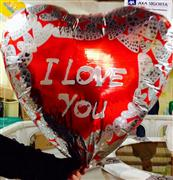 Toptan folyo balon jumbo 36 inç 108 cm kalp model, Toptan Satış