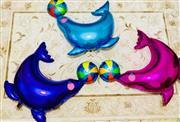 ikili yunus balığı folyo balon, Toptan Satış