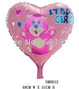 itsa girl kalpli folyo balon, Toptan Satış